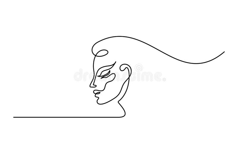 Plastic surgery of woman face line icon vector illustration