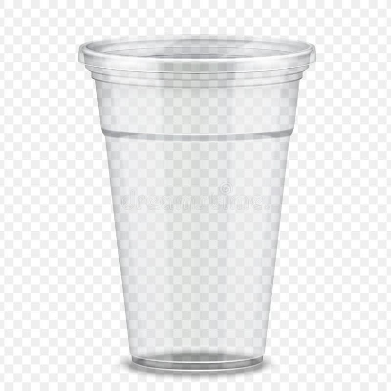 Plastic Takeaway Coffee Cups Stock Vector