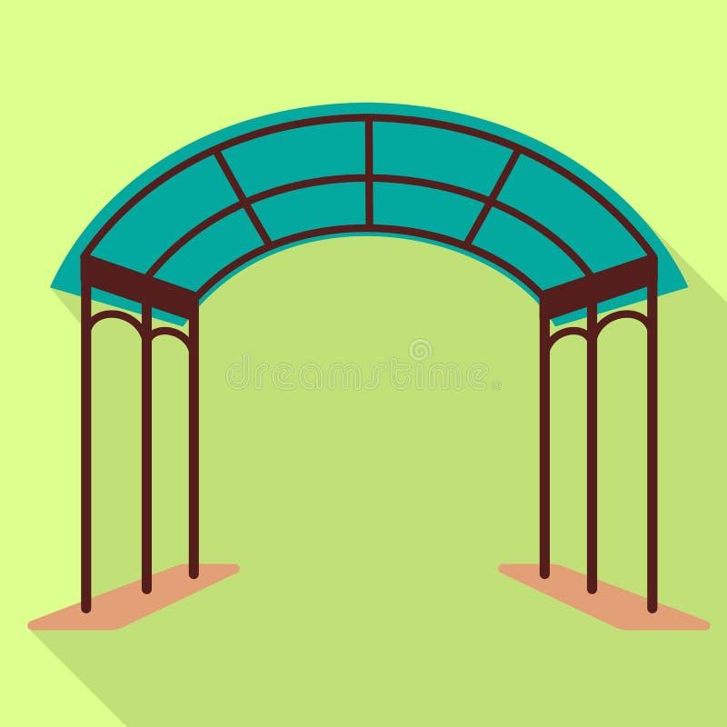 Plastic tentpictogram, vlakke stijl vector illustratie