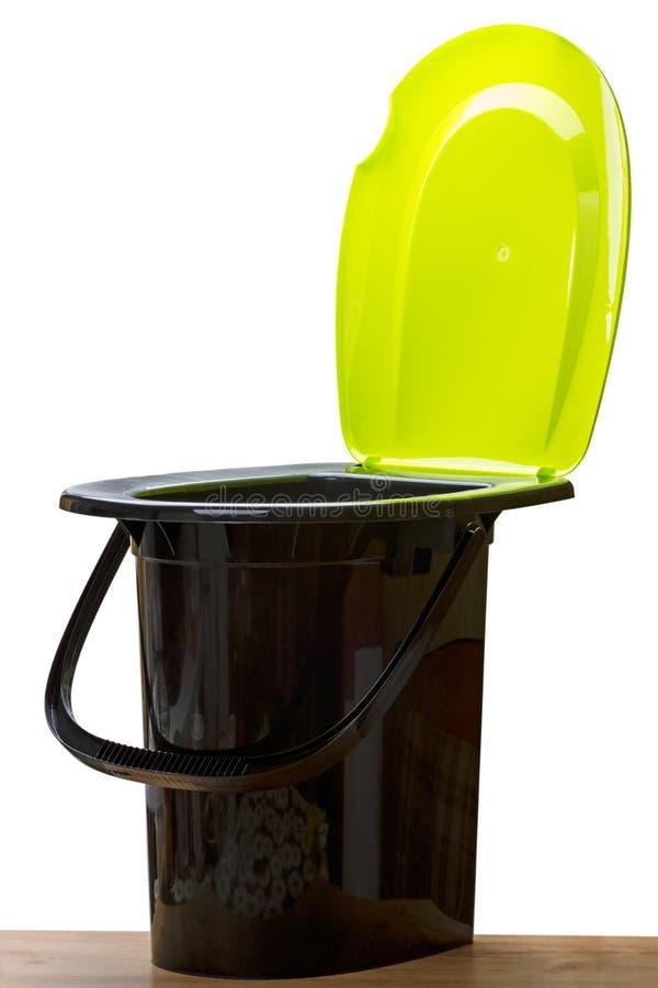 Plastic toiletemmer royalty-vrije stock fotografie