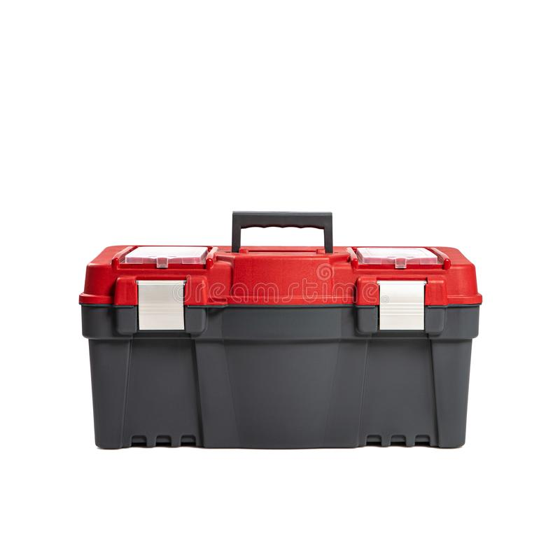 Plastic tool box isilated on a white background. Do it yourself idea stock images
