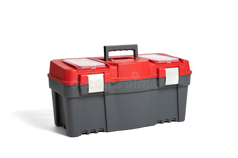 Plastic tool box on a white background. Do it yourself royalty free stock photo