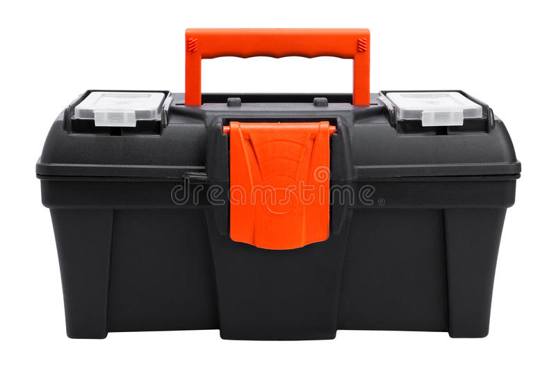 Plastic toolbox stock foto's