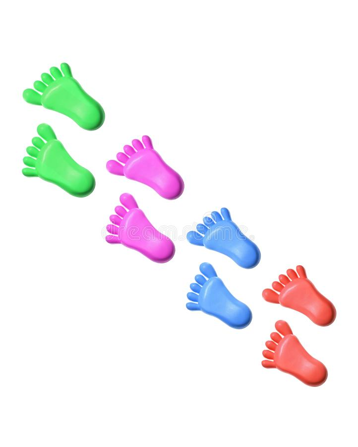 Plastic Toy Feet royalty free stock images