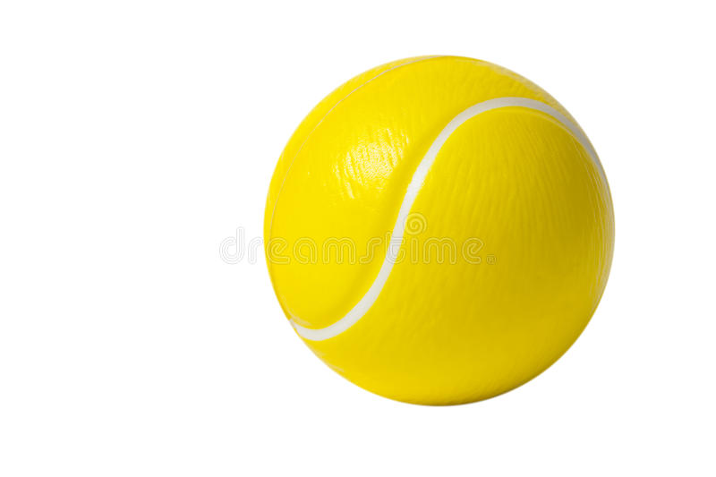 Plastic toy tennis ball stock photography