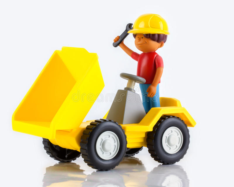 A plastic toy tip truck royalty free stock image