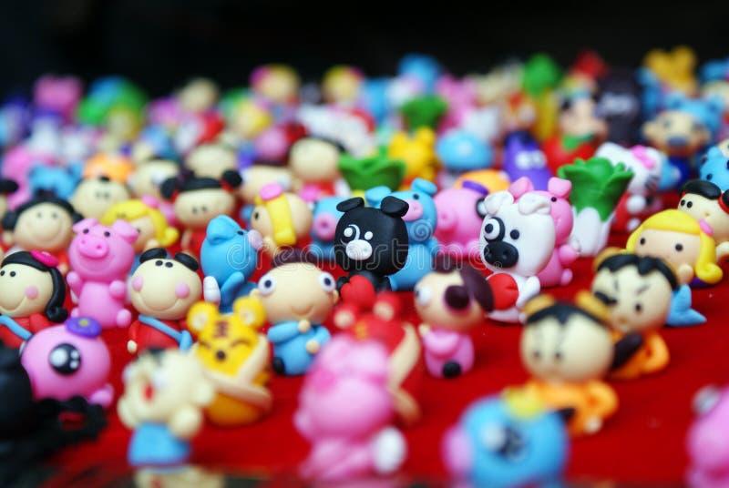 plastic toys royaltyfri fotografi