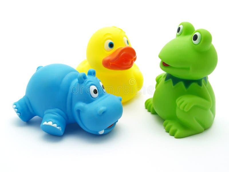 plastic toys arkivbilder