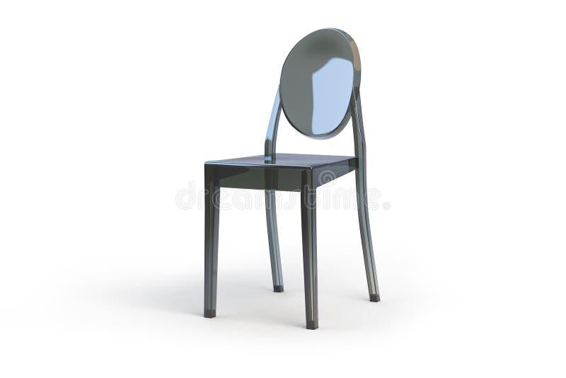 Download Plastic Transparent Chair. 3d Render Stock Illustration    Illustration Of Lifestyle, Green: