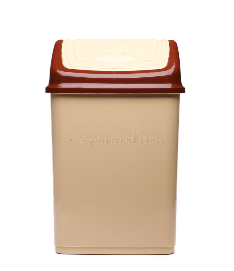 Plastic trash can close royalty free stock image