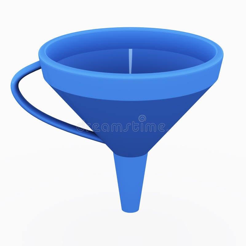 Plastic trechter vector illustratie