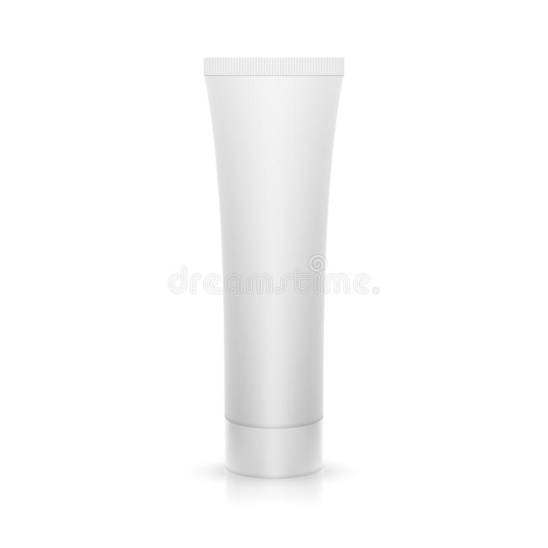 The plastic tube on glossy surface vector illustration