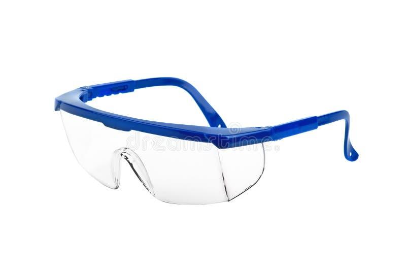 Plastic veiligheidsbeschermende brillen stock foto's