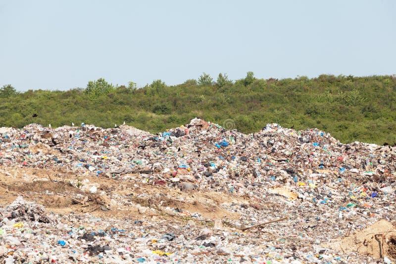 Plastic verontreiniging in het milieu royalty-vrije stock foto's