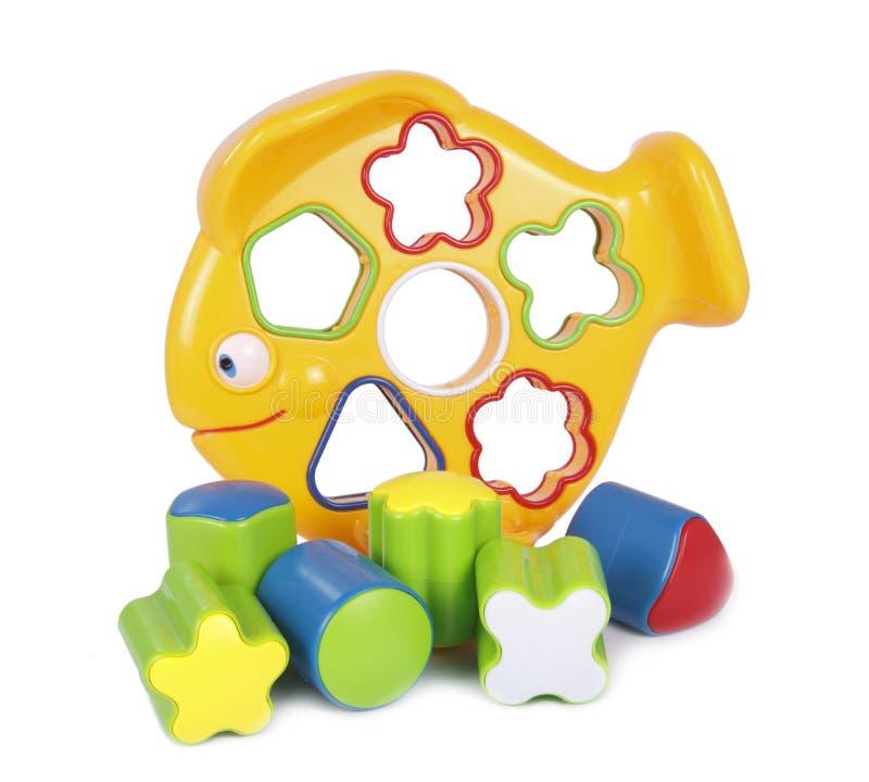 Plastic vissenstuk speelgoed 2 stock foto