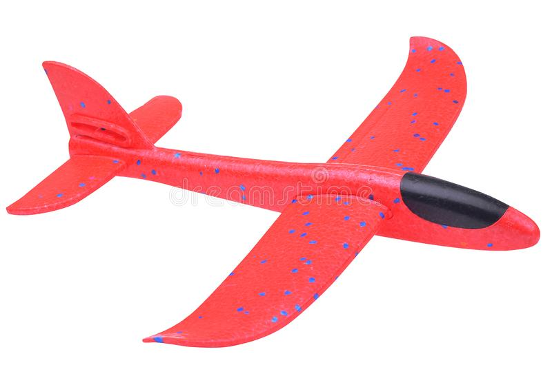 Plastic vliegtuigstuk speelgoed voor openluchtactiviteit royalty-vrije stock afbeeldingen