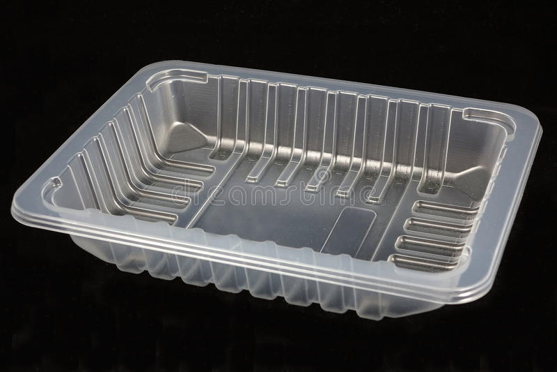 Plastic voedseldienblad stock foto's