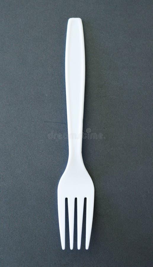 Plastic vork stock afbeelding