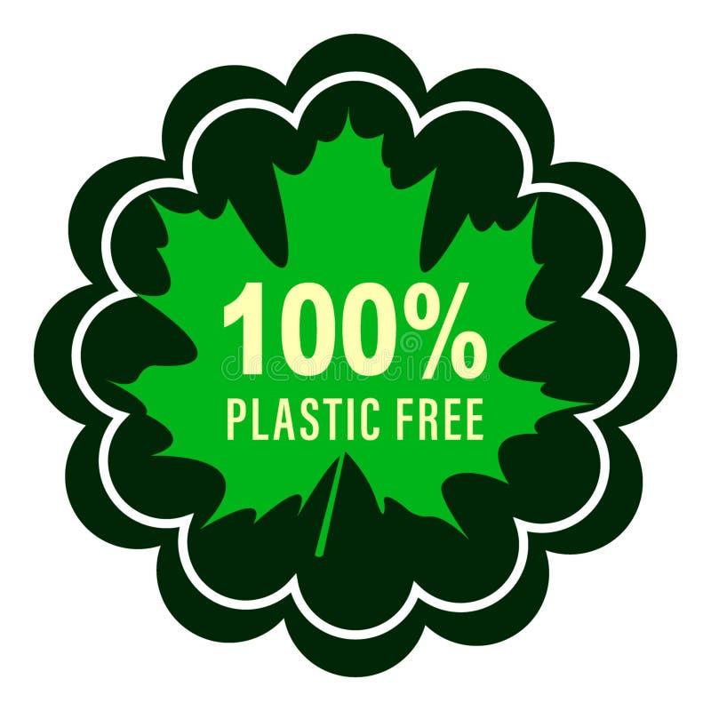 Plastic vrij productteken voor etiketten, stickers vector illustratie