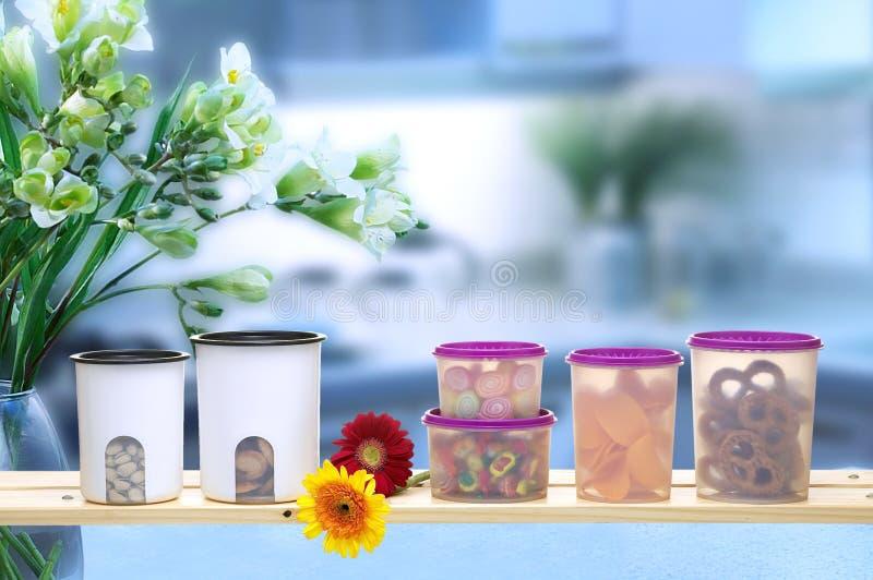 Plastic ware arkivfoto