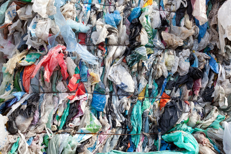Plastic waste royalty free stock images