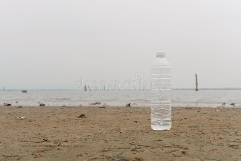 Plastic water bottles pollution in the ocean Environment concept. Plastic water bottles pollution in the ocean Environment and save world concept vector illustration