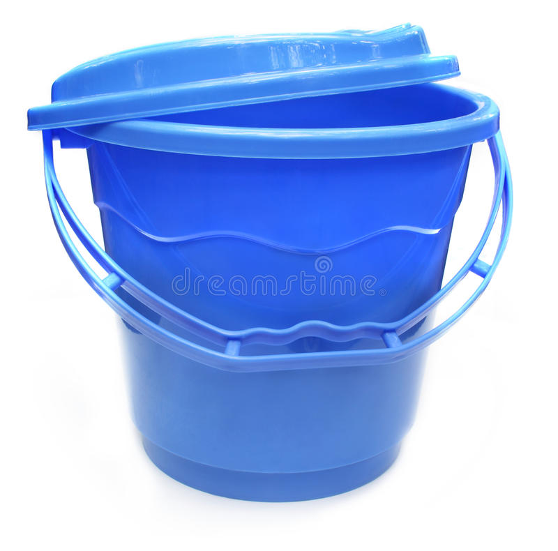 Plastic water bucket stock photography