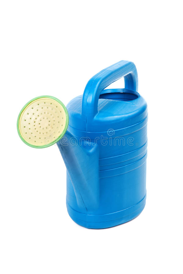 Download Plastic Watering Can Isolated On A White Background Stock Photography - Image: 31541252