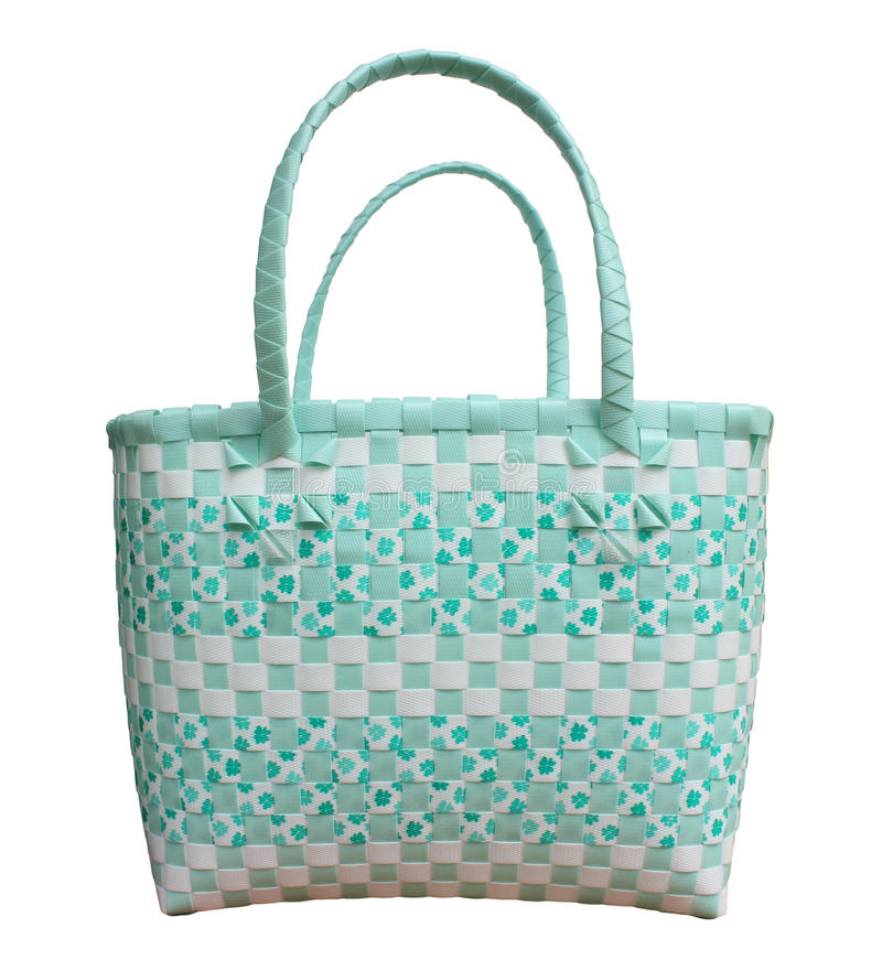 Plastic weave basket