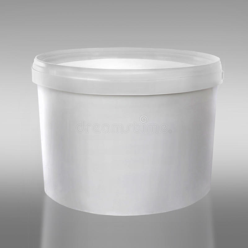 Plastic white container royalty free stock photography