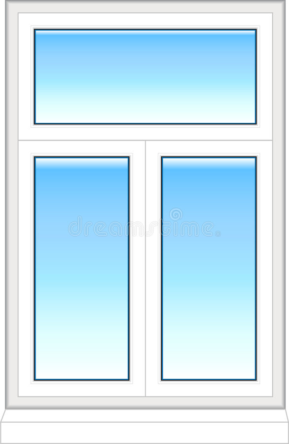 Plastic window in color royalty free stock image