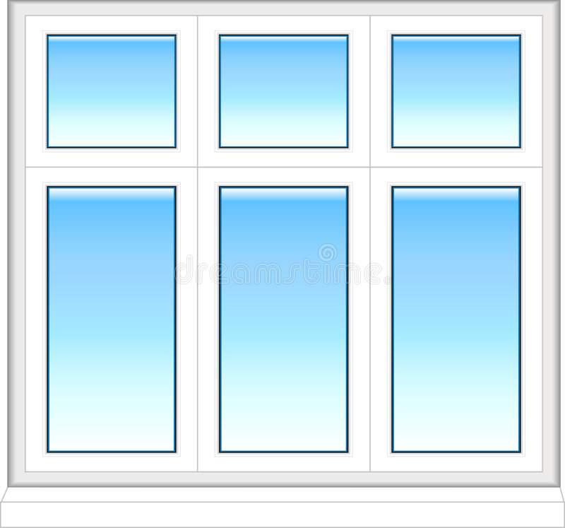 Plastic window in color royalty free stock photo