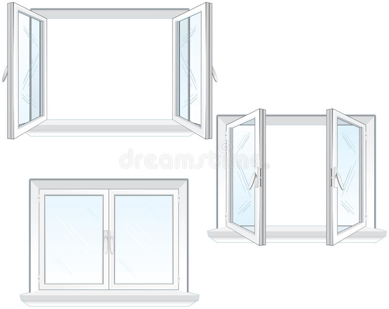 Plastic window frame stock vector. Illustration of air - 13874504