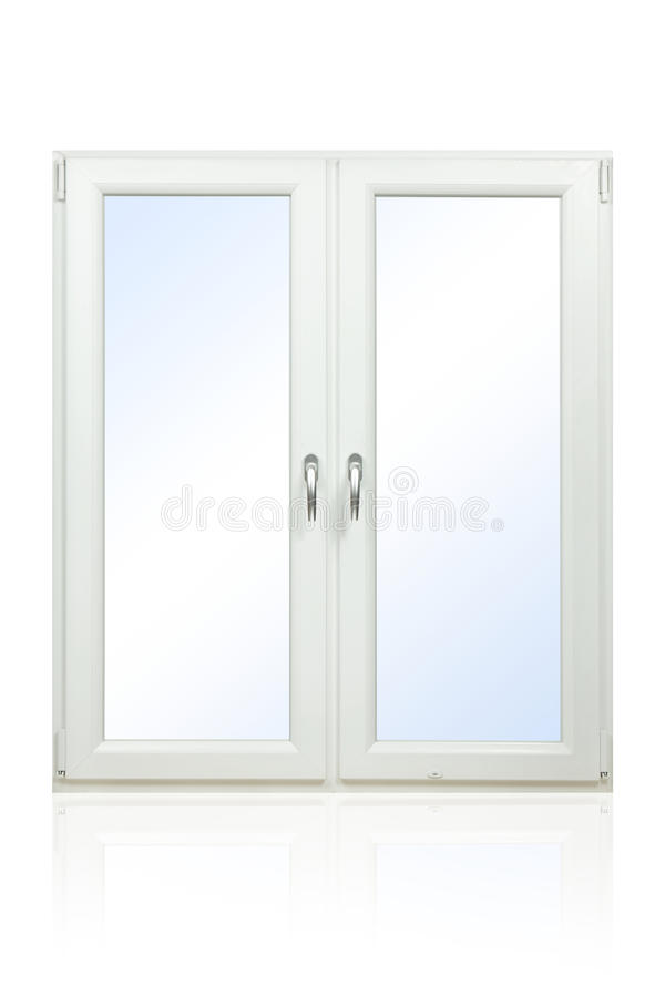 Plastic Window. Isolated on white background stock image