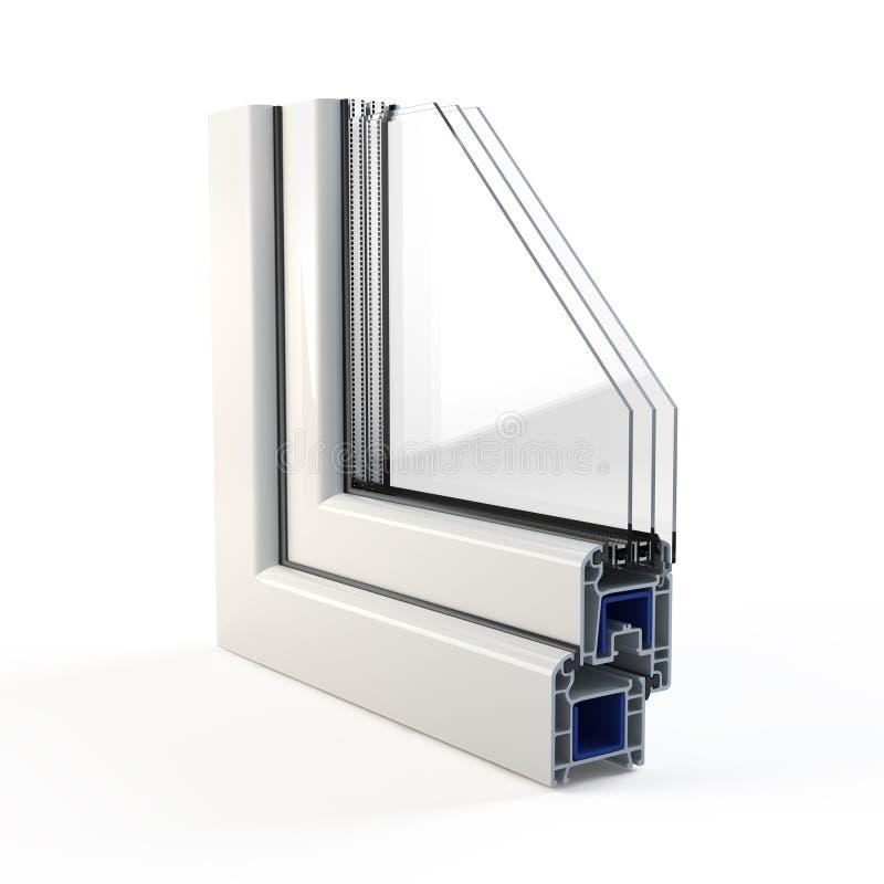 Plastic Window profile stock illustration