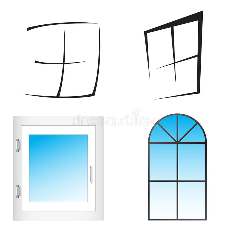 Free Plastic Window. Vector Illustration Royalty Free Stock Images - 26087449