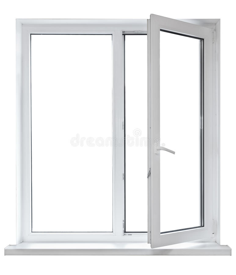 Free Plastic Window With Opened Door Royalty Free Stock Image - 21666406