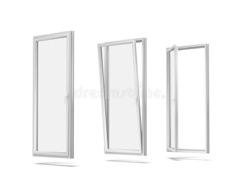 Plastic windows stock image image of triple double for Reglage fenetre pvc oscillo battant