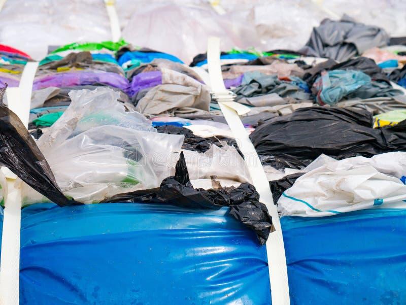 Plastic zak met Polyethyleen voor recycling royalty-vrije stock foto's