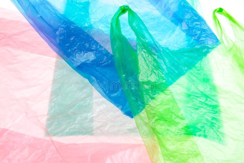Plastic zakken stock foto