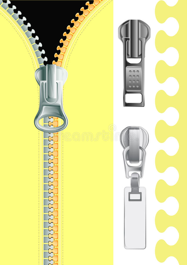 Download Plastic Zipper stock vector. Image of black, concept - 13975957