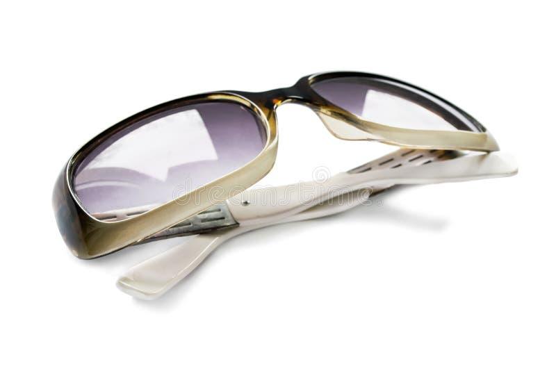 Plastic zonnebril royalty-vrije stock fotografie