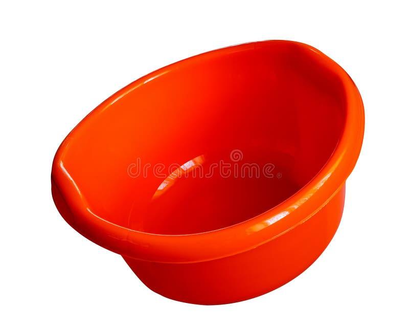 Plastica rotonda del lavabo della lavanderia immagini stock libere da diritti