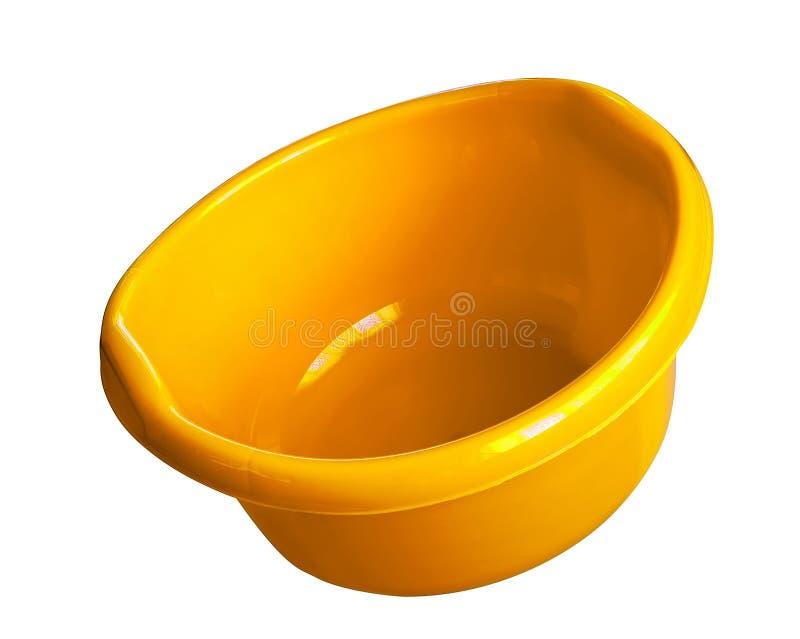 Plastica rotonda del lavabo della lavanderia fotografia stock