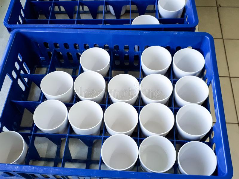 Plasticglassstoragetray stock photo