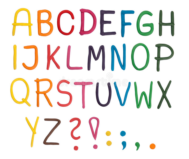 Download Plasticine alphabet stock image. Image of plasticine - 17361485