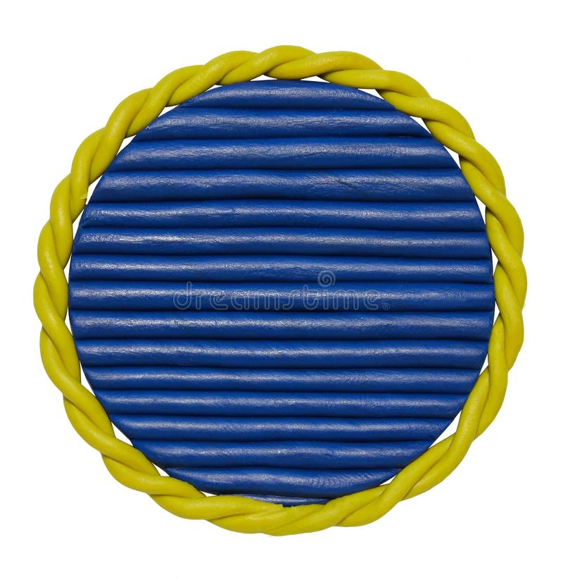 Plasticine badge with rope royalty free stock photography