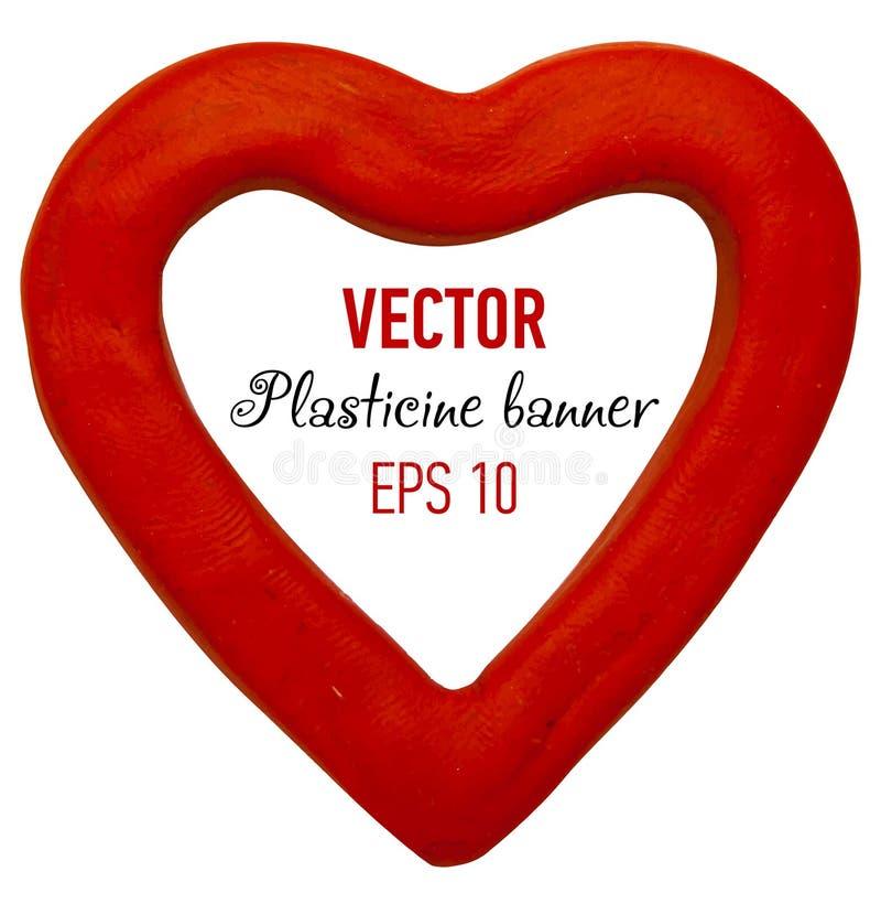 Plasticine banner. Vector illustration. Vector illustration of plasticine banner stock photos