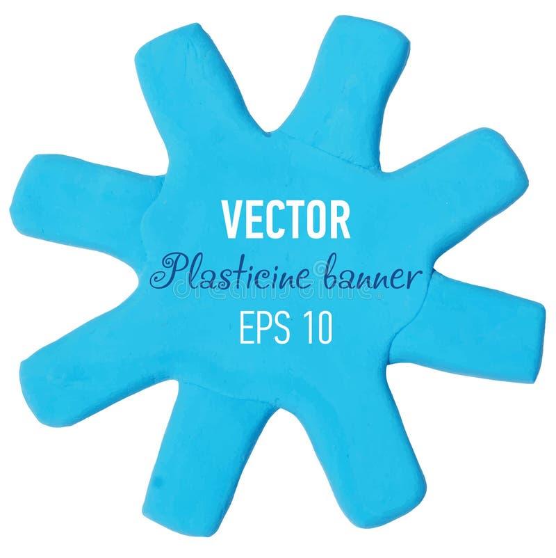 Plasticine banner. Vector illustration. Vector illustration of plasticine banner royalty free stock images