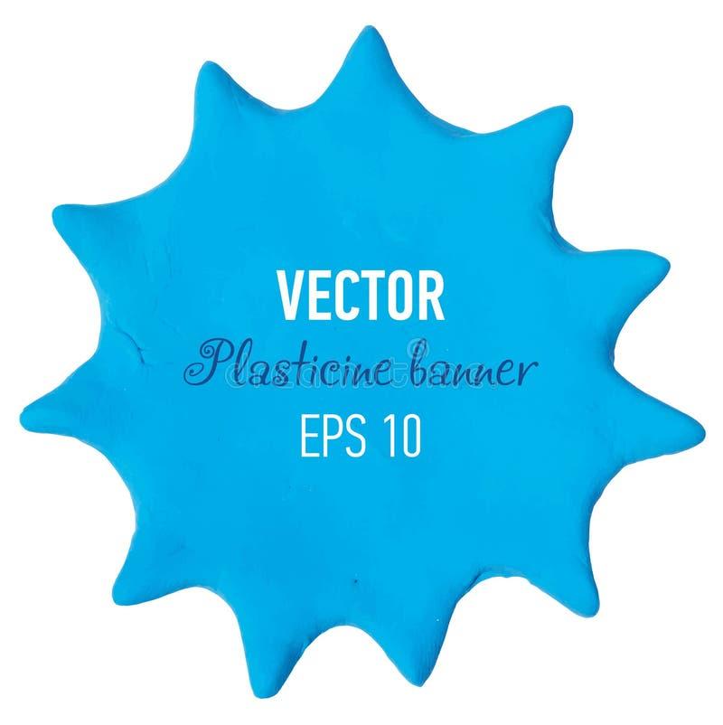 Plasticine banner. Vector illustration. Vector illustration of plasticine banner royalty free stock photography